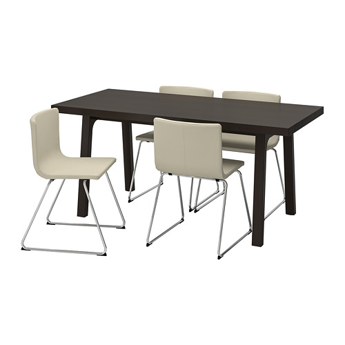 BERNHARD/VÄSTANBY/VÄSTANÅ - table and 4 chairs, dark brown/Kavat white | IKEA Hong Kong and Macau - PE741389_S4