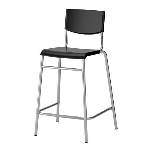 STIG bar stool with backrest
