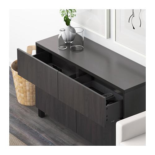 BESTÅ - storage combination w doors/drawers, Lappviken black-brown | IKEA Hong Kong and Macau - PE591431_S4