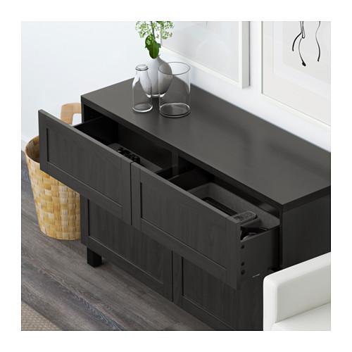BESTÅ - storage combination w doors/drawers, Hanviken/Stubbarp black-brown | IKEA Hong Kong and Macau - PE591436_S4