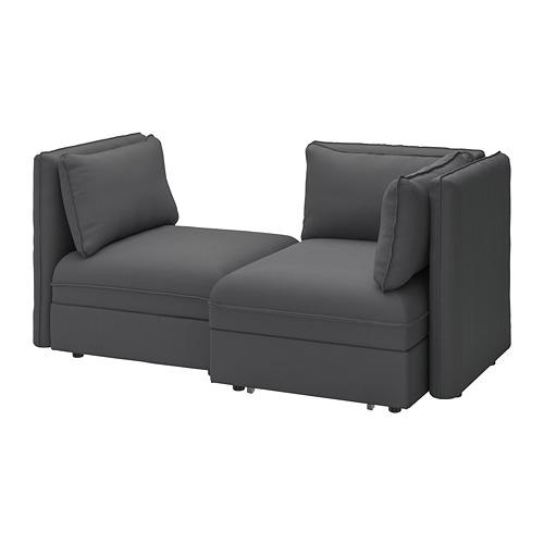 VALLENTUNA - 2-seat modular sofa with sofa-bed, and storage/Kelinge anthracite | IKEA Hong Kong and Macau - PE794020_S4