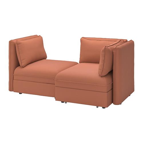 VALLENTUNA - 2-seat modular sofa with sofa-bed, and storage/Kelinge rust | IKEA Hong Kong and Macau - PE794031_S4