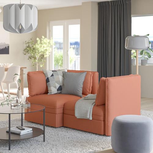 VALLENTUNA - 2-seat modular sofa with sofa-bed, and storage/Kelinge rust | IKEA Hong Kong and Macau - PE794023_S4