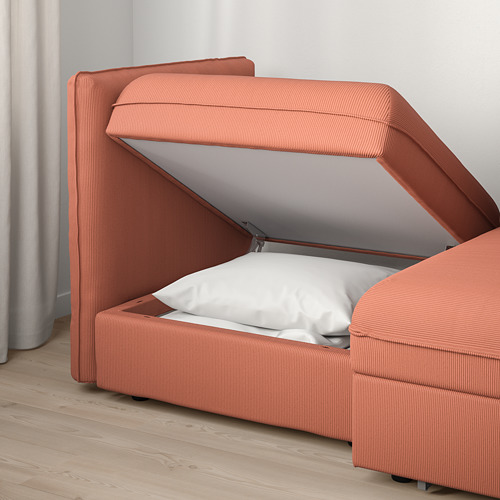 VALLENTUNA - 2-seat modular sofa with sofa-bed, and storage/Kelinge rust | IKEA Hong Kong and Macau - PE794019_S4