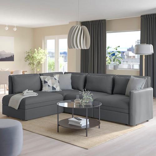 VALLENTUNA - modular corner sofa 3-seat+sofa-bed, and storage/Kelinge anthracite | IKEA Hong Kong and Macau - PE794067_S4