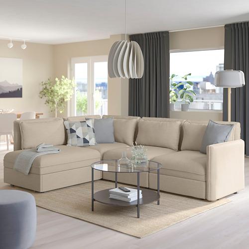 VALLENTUNA - 梳化床組合, 連貯物/Hillared 米黃色 | IKEA 香港及澳門 - PE794064_S4