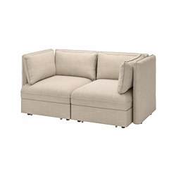 VALLENTUNA - 2-seat modular sofa w 2 sofa-beds, Hillared beige | IKEA Hong Kong and Macau - PE794081_S3