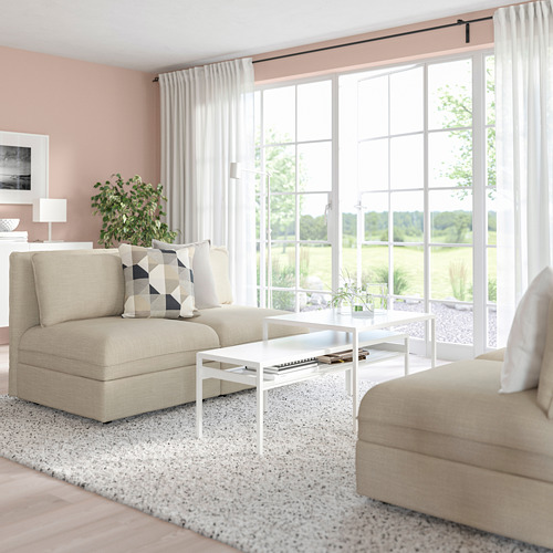 VALLENTUNA - 2-seat modular sofa, with storage/Hillared beige   IKEA Hong Kong and Macau - PE794098_S4