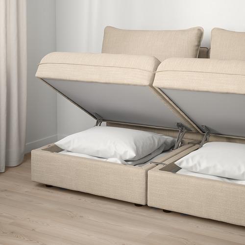 VALLENTUNA - 2-seat modular sofa, with storage/Hillared beige   IKEA Hong Kong and Macau - PE794099_S4