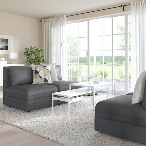 VALLENTUNA - 2-seat modular sofa, with storage/Hillared dark grey | IKEA Hong Kong and Macau - PE794102_S4