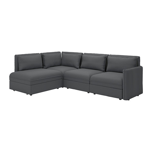 VALLENTUNA - modular corner sofa 3-seat+sofa-bed, and storage/Kelinge anthracite | IKEA Hong Kong and Macau - PE794109_S4