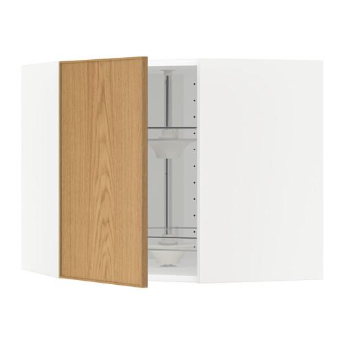 METOD corner wall cabinet with carousel