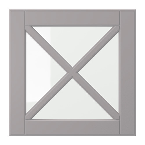 BODBYN - glass door with crossbar, grey | IKEA Hong Kong and Macau - PE698912_S4