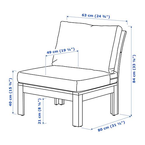 ÄPPLARÖ - 戶外舒適椅, 染褐色/Frösön/Duvholmen 深灰色 | IKEA 香港及澳門 - PE741435_S4