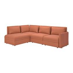 VALLENTUNA - modular corner sofa 3-seat+sofa-bed, and storage/Kelinge rust   IKEA Hong Kong and Macau - PE794122_S3