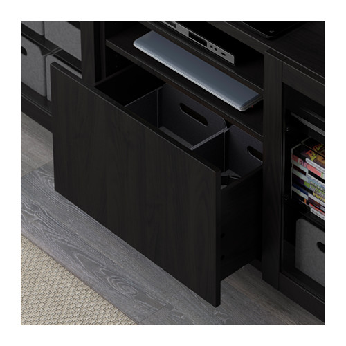 BESTÅ - TV bench with drawers, black-brown/Lappviken/Stallarp black-brown clear glass | IKEA Hong Kong and Macau - PE591583_S4