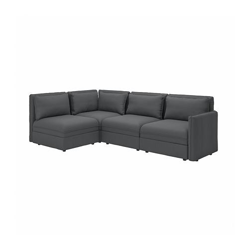 VALLENTUNA - 3座位角位組合式梳化, with storage/Kelinge anthracite | IKEA 香港及澳門 - PE794167_S4
