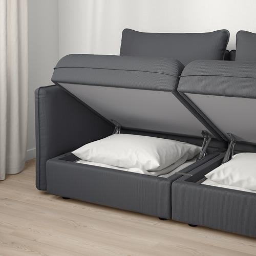 VALLENTUNA - 3座位角位組合式梳化, with storage/Kelinge anthracite | IKEA 香港及澳門 - PE794170_S4