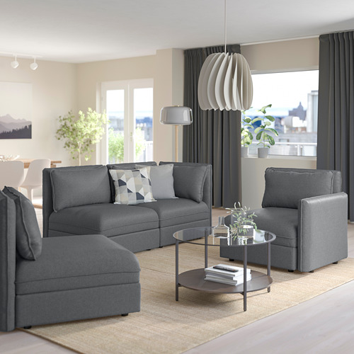 VALLENTUNA - modular corner sofa, 3-seat, with storage/Hillared dark grey | IKEA Hong Kong and Macau - PE794176_S4