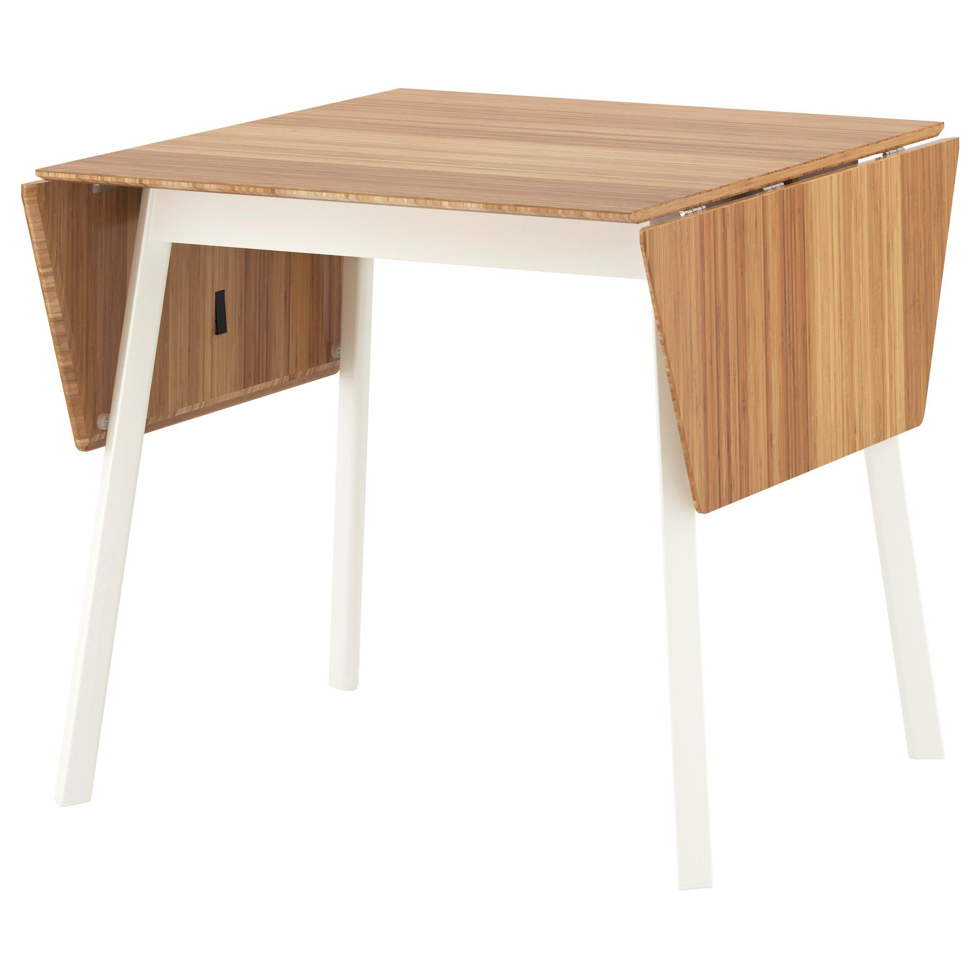 - IKEA PS 2012 - Drop-leaf Table, Bamboo/white IKEA Hong Kong