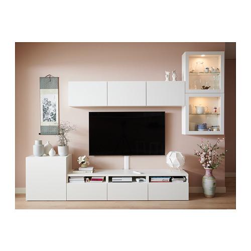 BESTÅ - 電視貯物組合/玻璃門, white/Lappviken white clear glass | IKEA 香港及澳門 - PH159790_S4