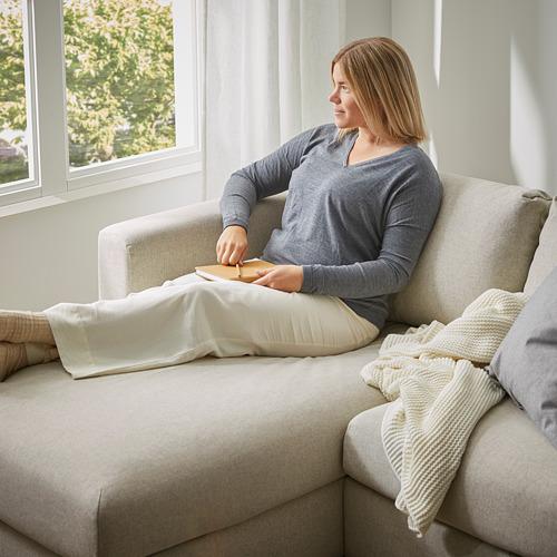 VIMLE - 3-seat sofa-bed with chaise longue, Gunnared beige | IKEA Hong Kong and Macau - PE794220_S4