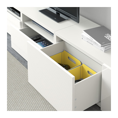 BESTÅ - TV storage combination/glass doors, white/Selsviken high-gloss/white frosted glass | IKEA Hong Kong and Macau - PE591835_S4