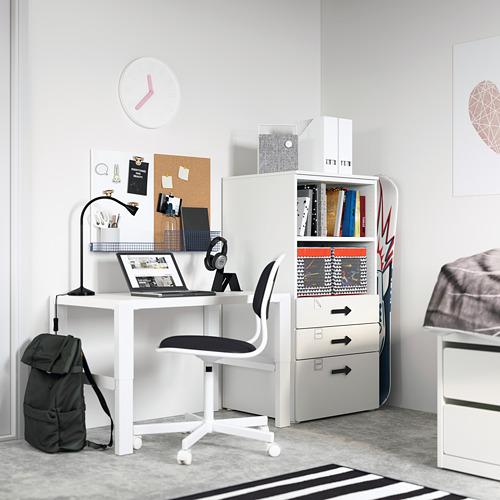 PLATSA/SMÅSTAD - bookcase, white white/with 3 drawers | IKEA Hong Kong and Macau - PE794249_S4