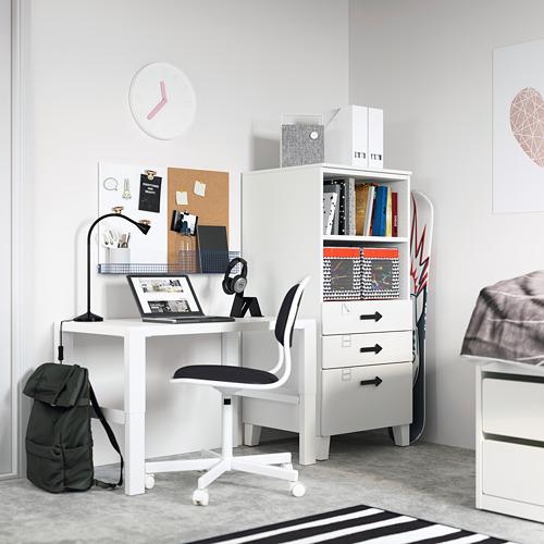 PLATSA/SMÅSTAD - bookcase, white white/with 3 drawers | IKEA Hong Kong and Macau - PE794255_S4