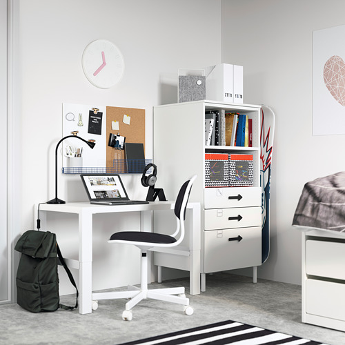 PLATSA/SMÅSTAD - bookcase, white white/with 3 drawers | IKEA Hong Kong and Macau - PE794250_S4