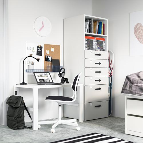 PLATSA/SMÅSTAD - 書架, 白色/灰色 | IKEA 香港及澳門 - PE794271_S4