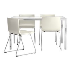 TORSBY/BERNHARD - table and 4 chairs, glass white/Kavat white | IKEA Hong Kong and Macau - PE269223_S3