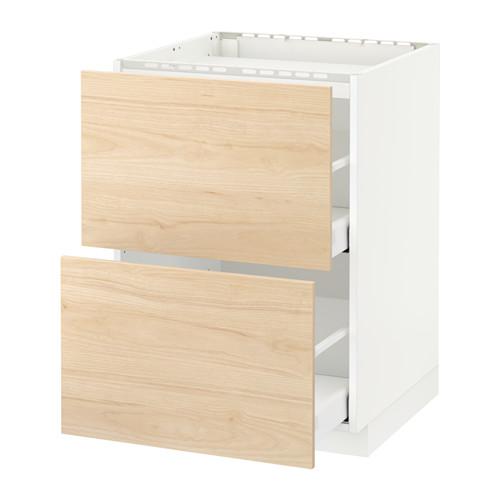 METOD/MAXIMERA - base cab f hob/2 fronts/2 drawers, white/Askersund light ash effect | IKEA Hong Kong and Macau - PE652253_S4