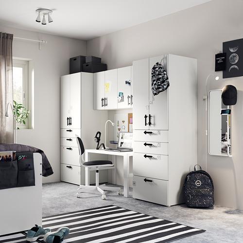 PLATSA/SMÅSTAD - storage combination, white/white | IKEA Hong Kong and Macau - PE794283_S4