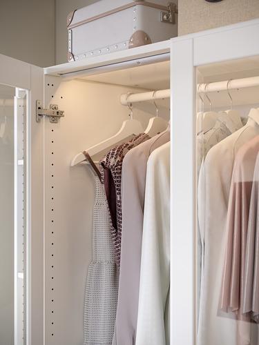 PAX - 衣櫃, 白色/Tyssedal 玻璃 | IKEA 香港及澳門 - PH170936_S4