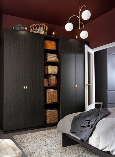 PAX - wardrobe, black-brown/Forsand black-brown stained ash effect   IKEA Hong Kong and Macau - PH172090_S4
