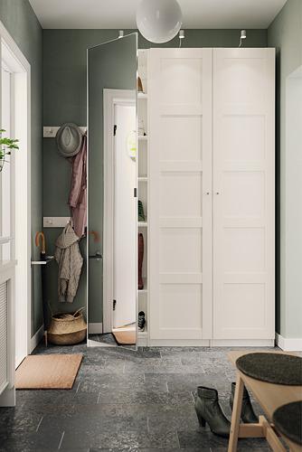 PAX/BERGSBO/VIKEDAL - 衣櫃組合, 白色/鏡面玻璃 | IKEA 香港及澳門 - PH173213_S4