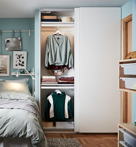 PAX/HASVIK - 衣櫃組合, 白色 | IKEA 香港及澳門 - PH170414_S4