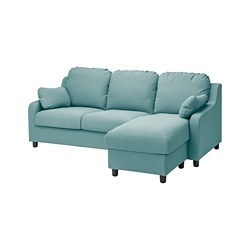 VINLIDEN - 3-seat sofa with chaise longue, Hakebo light turquoise | IKEA Hong Kong and Macau - PE794370_S3