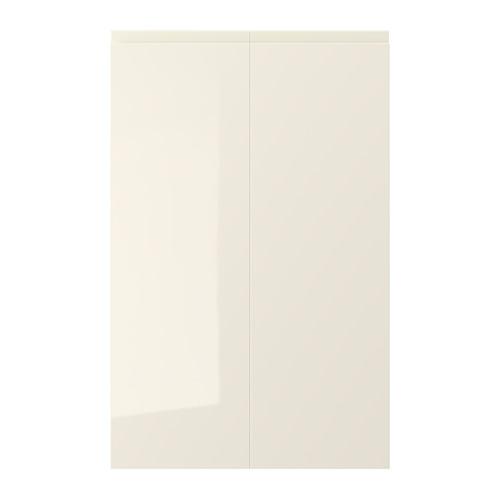 VOXTORP - 2-p door f corner base cabinet set, right-hand/high-gloss light beige | IKEA Hong Kong and Macau - PE699366_S4