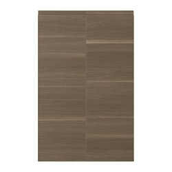 VOXTORP - 2-p door f corner base cabinet set, left-hand/walnut effect | IKEA Hong Kong and Macau - PE699378_S3