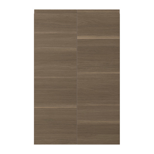 VOXTORP - 2-p door f corner base cabinet set, left-hand/walnut effect | IKEA Hong Kong and Macau - PE699378_S4