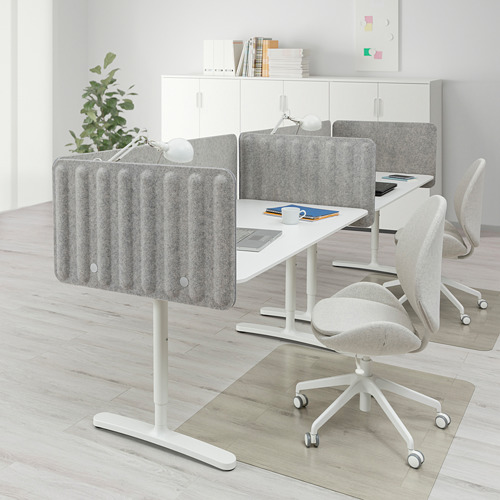 BEKANT - desk with screen, 320x80cm, white/grey | IKEA Hong Kong and Macau - PE794403_S4