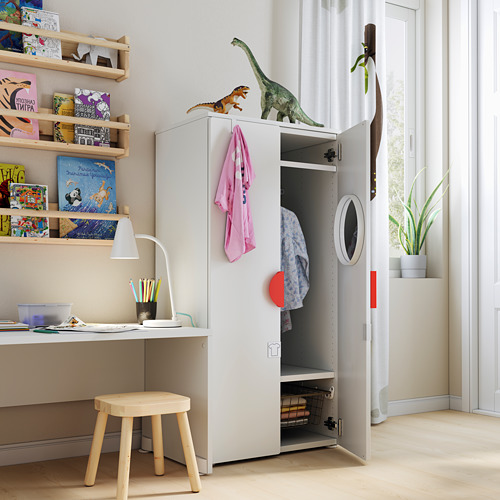PLATSA/SMÅSTAD - wardrobe, white/green | IKEA Hong Kong and Macau - PE794422_S4