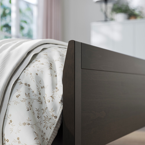 IDANÄS - bed frame, double, dark brown/Lönset | IKEA Hong Kong and Macau - PE794436_S4