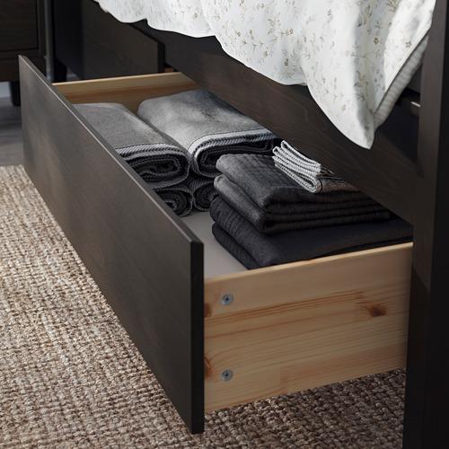 IDANÄS - 特大雙人床架連抽屜, 深褐色/Luröy | IKEA 香港及澳門 - PE794441_S4