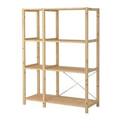 IVAR - 2 sections/shelves, 134x50x179 cm, pine | IKEA Hong Kong and Macau - PE299070_S3