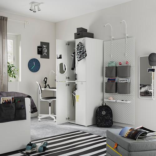 PLATSA/SMÅSTAD - wardrobe, white grey/with 2 clothes rails | IKEA Hong Kong and Macau - PE794491_S4
