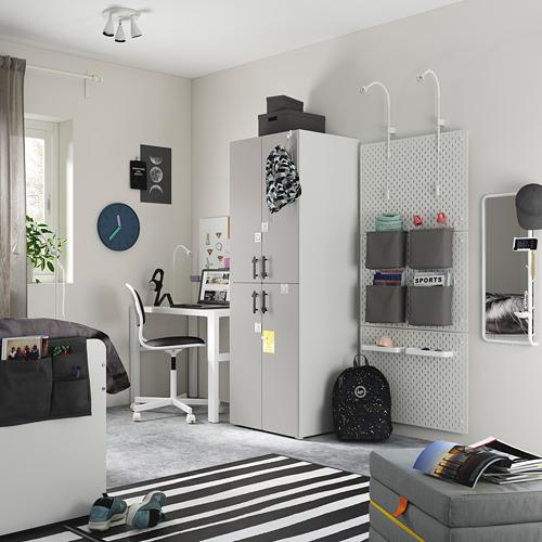 PLATSA/SMÅSTAD - wardrobe, white grey/with 2 clothes rails | IKEA Hong Kong and Macau - PE794497_S4
