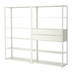 FJÄLKINGE - 層架組合連抽屜, 白色 | IKEA 香港及澳門 - PE378857_S3